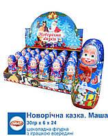 Aras Шоколадна фігурка Маша і Ведмідь НОВОРІЧНА 30г*24