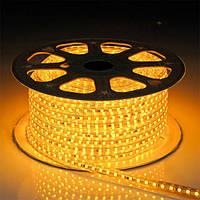 Светодиодная лента smd 2835-120 220В IP68 желтая Premium