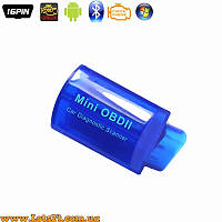 Автомобильный сканер Micro ELM327 OBD2 Bluetooth адаптер V2.1 + ПО