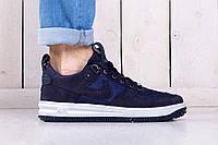 Мужские кроссовки молодежные Nike lunar force blue (реплика)