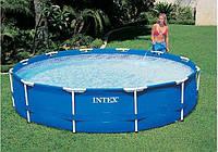 Каркасный бассейн Intex 28210, диаметр 366см. Бассейны во двор, бассейны наливные интекс