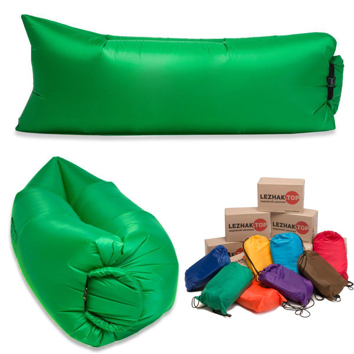 Ламзак - надувной шезлонг, диван, гамак. Пр-во Украина. Зеленый