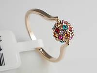 """Кольцо """"Кристи"""" с камнями Swarovski Fallon Jewelry 16.5 0217-210 (1231)"""