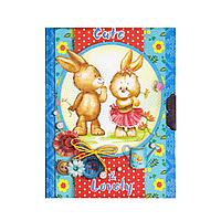 Блокнот с замочком и ключиком 6028 Зайцы, Мишка
