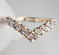 "Кольцо ""Джаннет"" с кристаллами Swarovski (Код: 1223)"