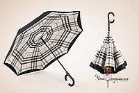Зонт обратного сложения Umbrellas - клетка