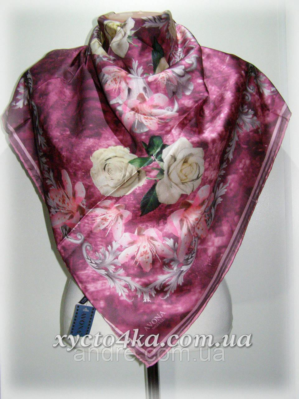 Шелковый платок дыхание весны, розовый