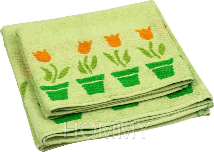 """Набор полотенец """"Лалале"""" зеленый"""