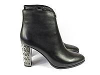 Черные женские ботинки на каблуке Fabio Monelli, фото 1