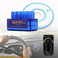 Авто сканер Mini ELM327 OBD2 V2.1 bluetooth адаптер + ПО