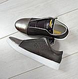 Женские кожаные слипоны спортивного стиля, фото 3
