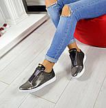 Женские кожаные слипоны спортивного стиля, фото 2