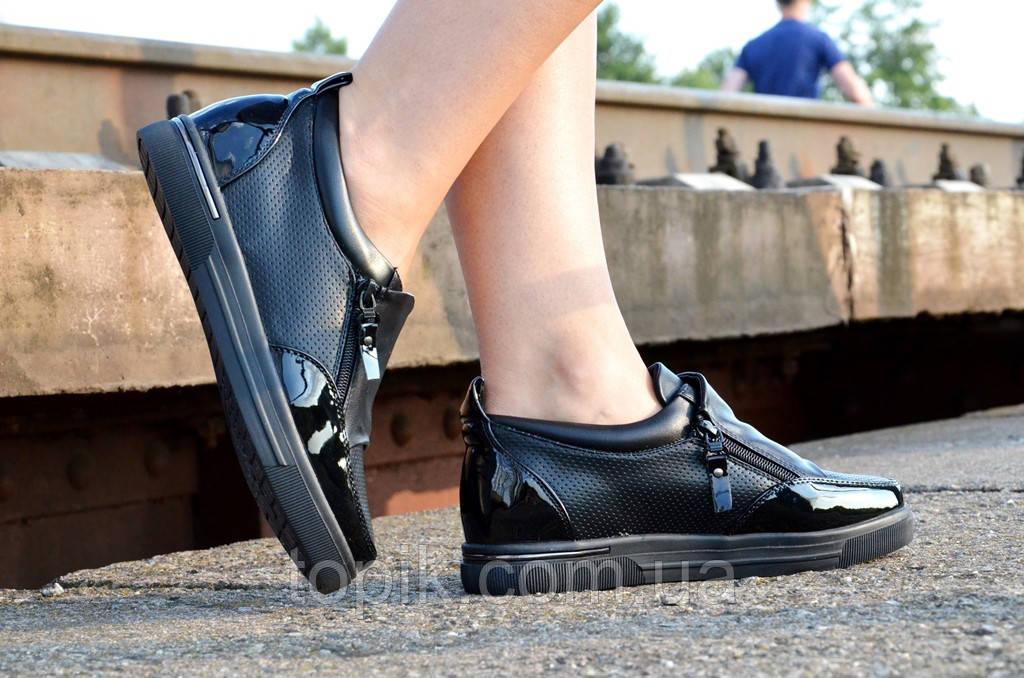 86191ec0 ... Кроссовки туфли мокасины черные женские удобные и легкие универсальные  (Код: 26) Только 37р ...