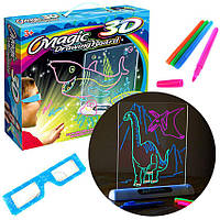Светящаяся электронная доска для рисования, 3D доска для рисования Magic Drawing Board, 3D набор для рисования