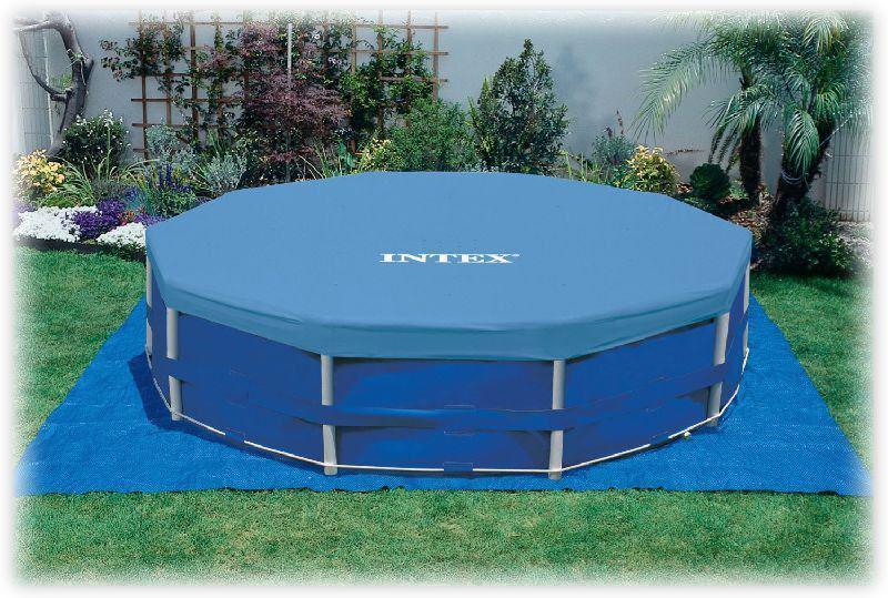Тент для круглых каркасных бассейнов Intex 28031 диаметром 366см, тент для накрытия бассейнов, тенты интекс