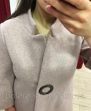 Женское пальто Италия кашемир пудра, фото 2