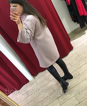 Женское пальто Италия кашемир пудра, фото 3