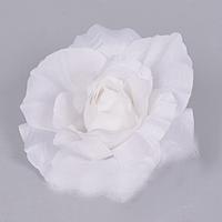 Головка розы 10 см чисто белая Цветы искусственные