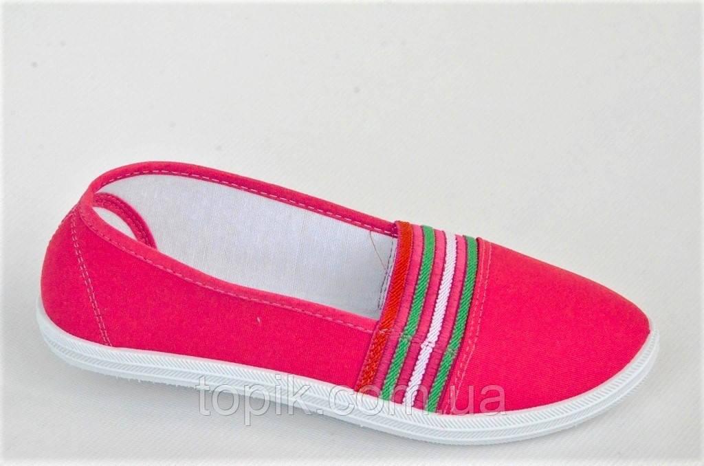 Мокасины кеды слипоны женские текстиль розовые на резинке легкие и удобные (Код: 1021)