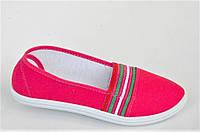Мокасины кеды слипоны женские текстиль розовые на резинке легкие и удобные (Код: 1021), фото 1