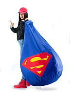 Кресло-мешок груша Супермен. Из  плотной ткани Оксфорд 85*105 см.
