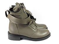 Кофейные ботиночки с пряжкой на низком каблучке, фото 1