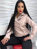 Женская стильная кожаная куртка (2 цвета), фото 1