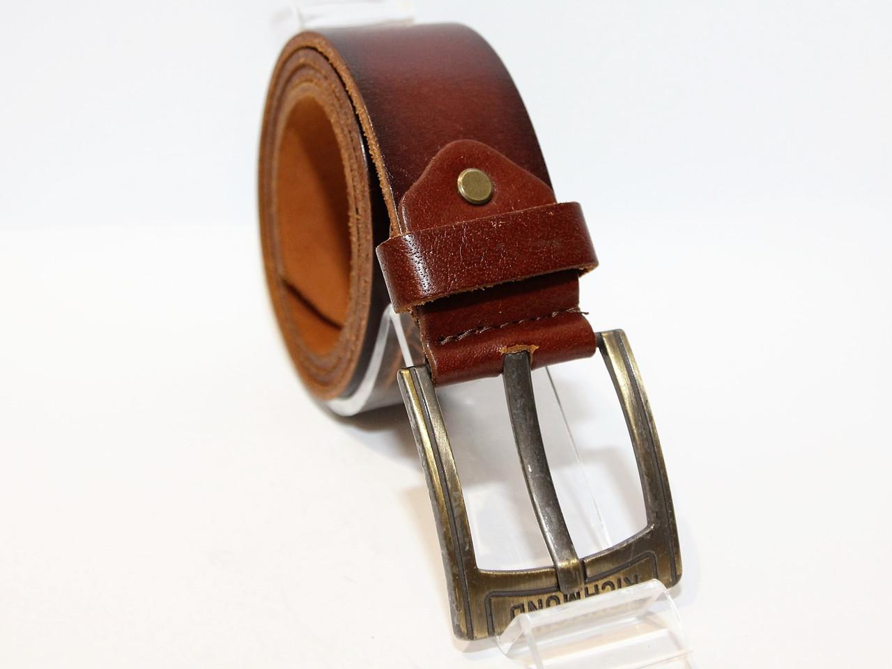 Джинсовый кожаный ремень (11489)