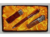 PN3-43 Подарочный набор EGLANTINE: зажигалка+ ручка + нож, Сувенирный нож, Подарок мужчине, Презент