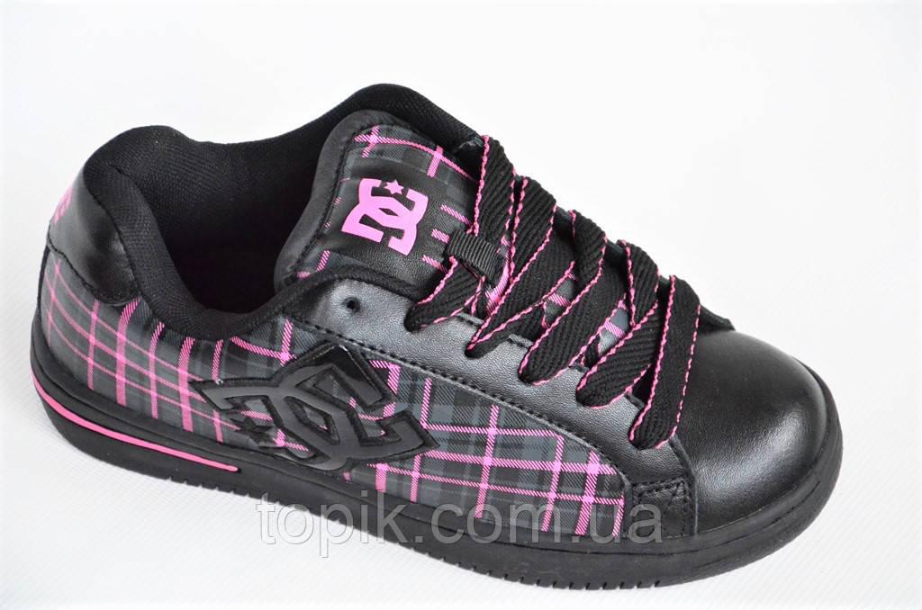 5217c404 Кроссовки скейтера кожа мужские женские подростковые черные Australia (Код:  1011)