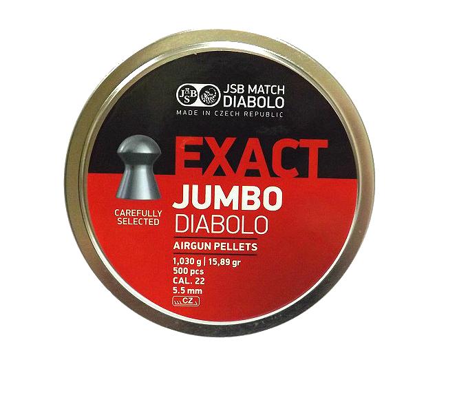 Пули для пневматических винтовок JSB EXACT JUMBO Diabolo cal. 22 (5,5mm)
