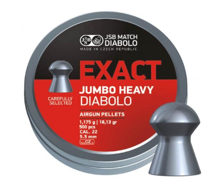 Пули для пневматических винтовок JSB EXACT JUMBO HEAVI Diabolo cal. 22 (5,5mm)