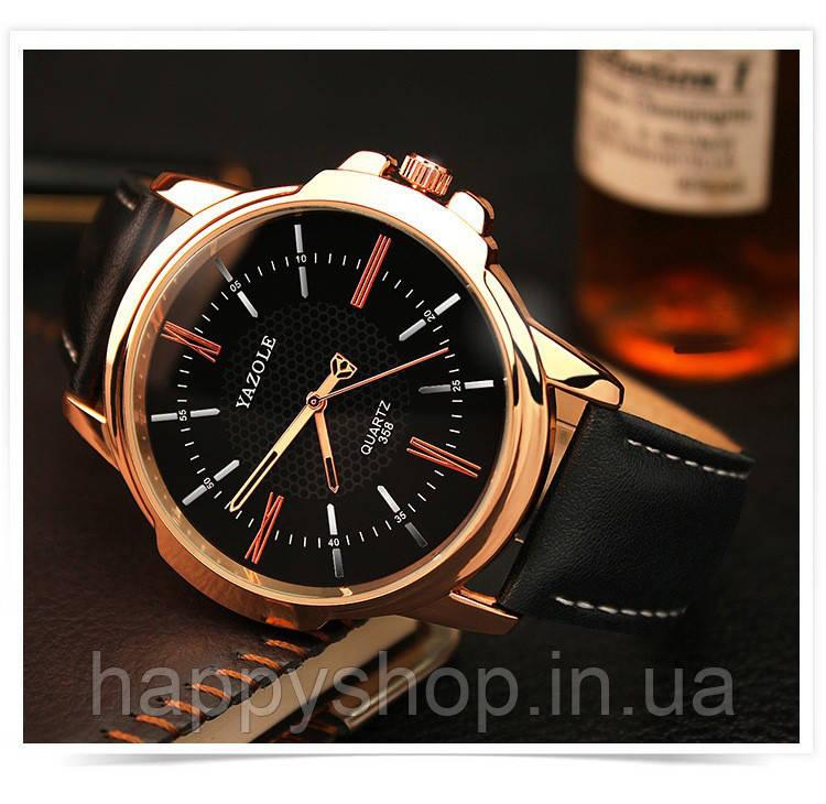 Мужские кварцевые часы YAZOLE classic (Black) - HappyShop интернет-магазин  счастливых покупок в 40e87f0d0dc