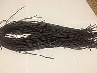 Шнурки коричневые круглые воск (2мм) 80 см, фото 1