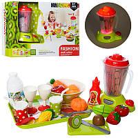Детский Игровой набор кухонной бытовой техники, блендер, поднос, посуда, продукты, XJ327G-3