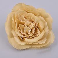 Головка розы 12 см  телесная пастель Цветы искусственные