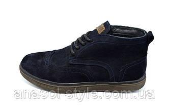 Ботинки замшевые демисезонные на байке Multi-Shoes Master Blue