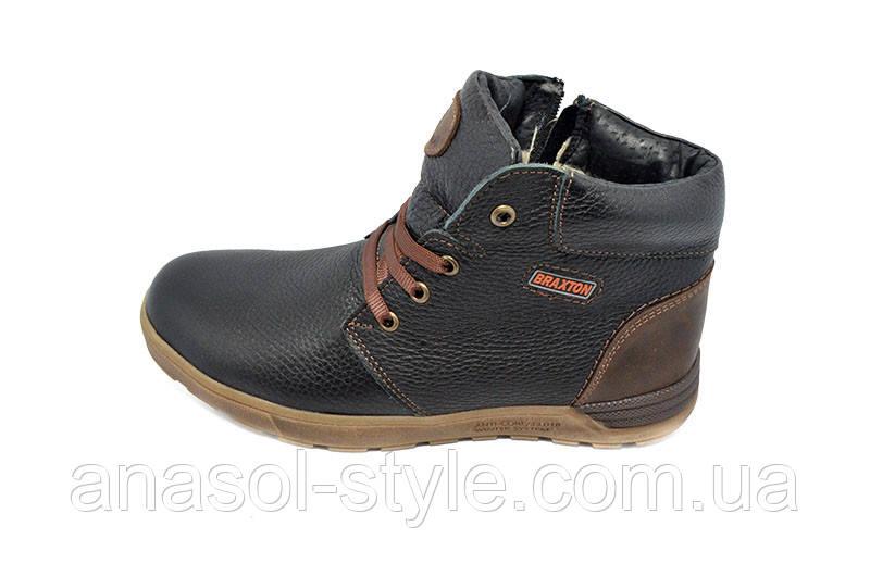 Ботинки зимние на меху Braxton черные