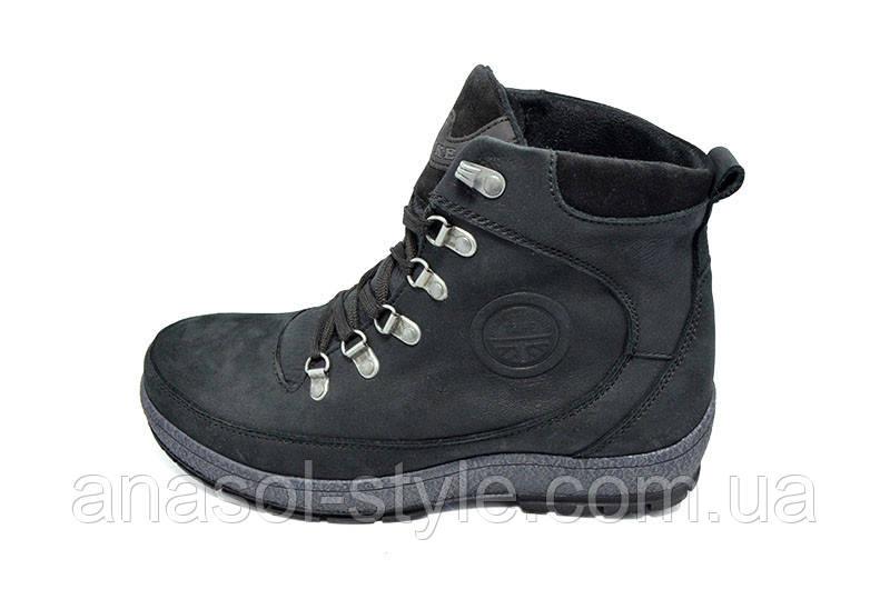 Ботинки мужские зимние на меху Fine черные