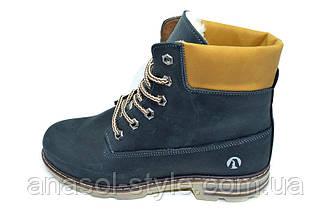 Ботинки зимние на меху подростковые Anser черные