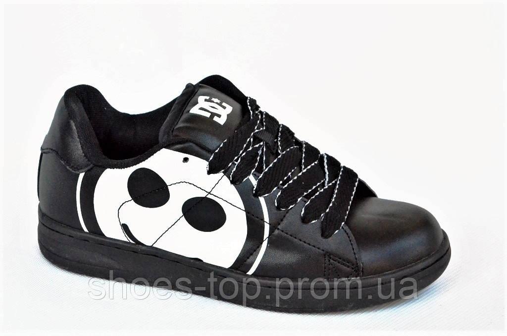 Кроссовки скейтера кожа мужские женские подростковые черные большой смайл ( Код  Ш1008) Только 37р 8f2969769e199