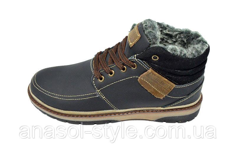 Ботинки зимние на меху подростковые Multi Shoes Comfi черные
