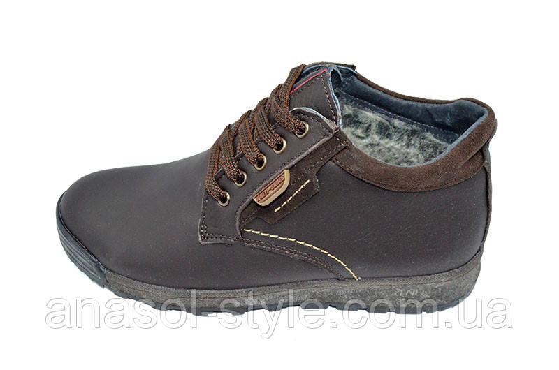 Ботинки зимние на меху подростковые Multi Shoes коричневые