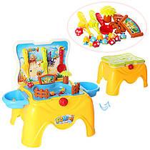 Детский игровой набор - столик Рыбалка, удочка 2 шт, рыбки 9 шт, 22 детали, музык. и световые эффекты, 668-37A