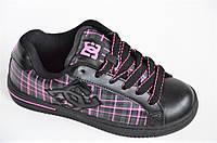 Кроссовки скейтера кожа мужские женские подростковые черные Australia (Код: Ш1011)