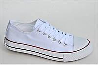 Кеды типа Converse репликаы женские подростковые белые удобные (Код: Ш1012)