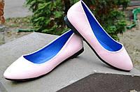 Балетки, туфли женские светло-розовые удобные (Код: Б466)