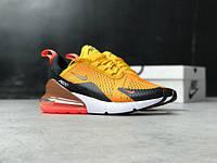 Мужские кроссовки в стиле Nike Air Max 270 Orange/Red (41, 42, 43, 45 размеры)
