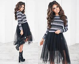 Платье с сеткой на юбке, фото 2