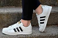 Кеды кроссовки    женские подростковые белые (Код: Ш475)